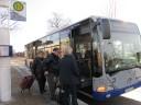 Havelbus 653 am Bahnhof Falkensee