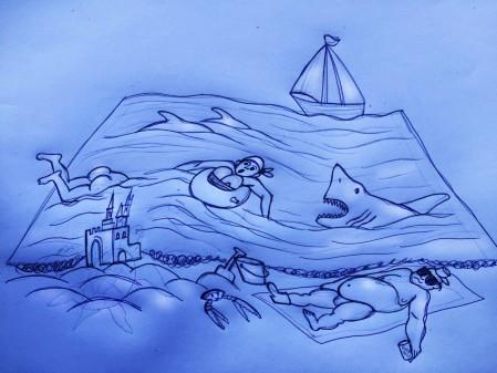sand Weiße Hai