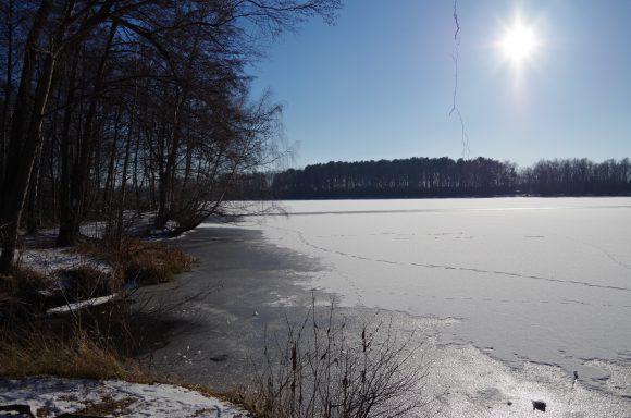 Falkensee: Warnung vor dem Betreten von Eisflächen – Feuerwehr übt die Rettung aus dem Eis