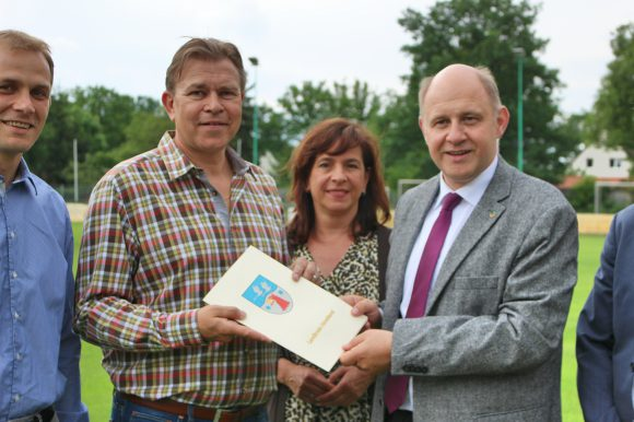 Neue Flutlichtanlage für den SV Falkensee-Finkenkrug e.V.