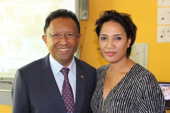 Der Präsident von Madagaskar zu Besuch in Falkensee