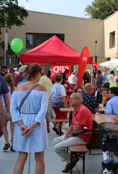 Einlasskontrollen zum Falkenseer Stadtfest 2017 am 9. September