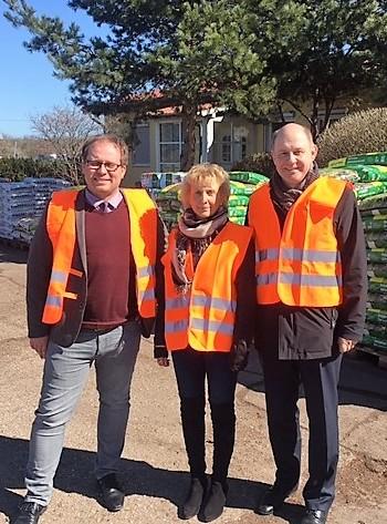 Nauen: Landrat und Bürgermeister besuchen Vorzeigeunternehmen Störk