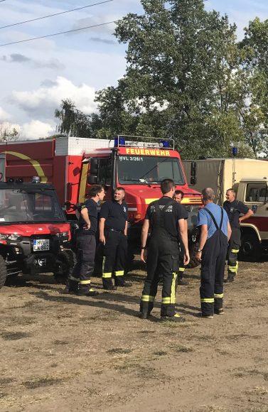 Feuerwehrkräfte aus dem Havelland erneut in Klausdorf im Einsatz