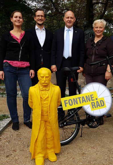 500 Kilometer auf Fontanes Spuren: Überregionales Radwege-Projekt zum 200. Geburtstag von Theodor Fontane vorgestellt