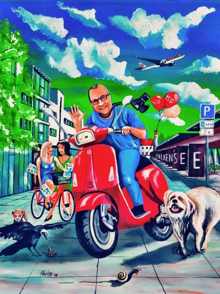Heiko Schulze malt Cover zu Falkensee aktuell #150