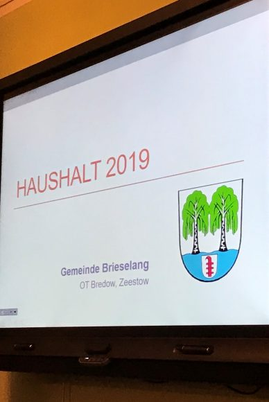 Brieselang: Mit breiter Mehrheit: Gemeindevertreter beschließen Haushalt für 2019