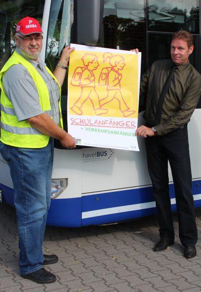 Havelbus zeigt Herz für die neuen  Schulanfänger!