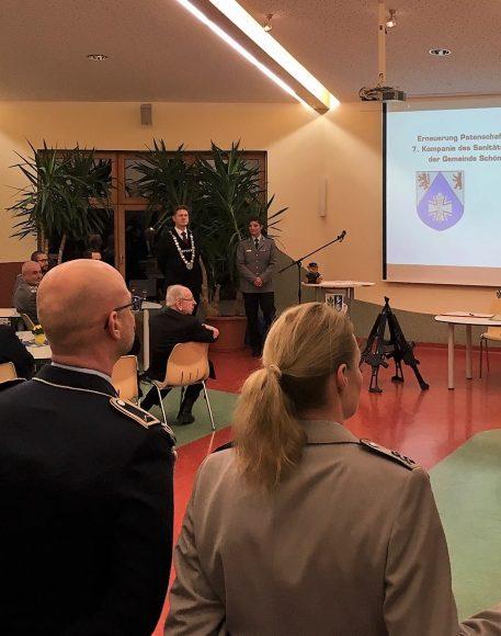 10-jährige vertrauensvolle Patenschaft: Erneuerung der Patenschaft zwischen der 7. Kompanie des Sanitätsregiment 1 und der Gemeinde Schönwalde Glien