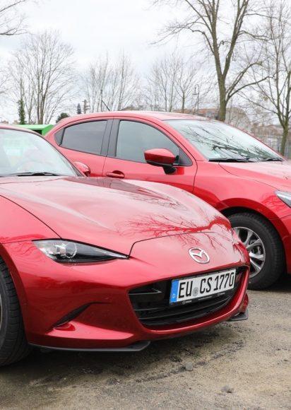 Mazda Carsharing am Falkenseer Bahnhof