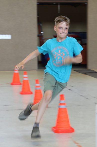 Falkensee – Kindersprints in der Grundschule: Wer läuft den Parcours am schnellsten?