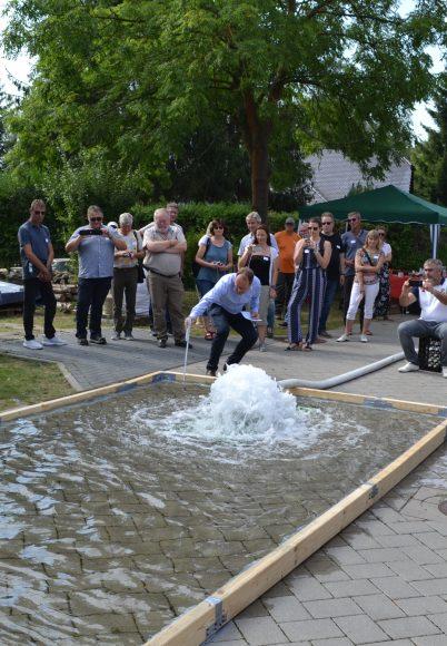 Brieselang: Erfolgreicher Testlauf zur Versickerung von Wassermassen