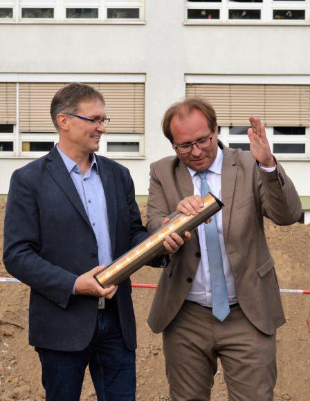 Nauen: Grundsteinlegung für das neue Multifunktionsgebäude