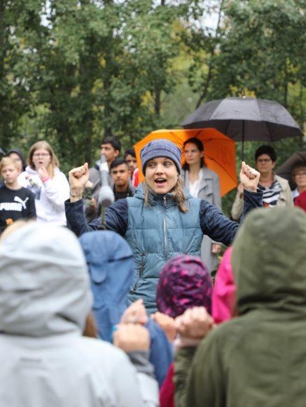 Gedenkstunde in Falkensee: Norwegische Schüler zu Besuch im Geschichtspark!