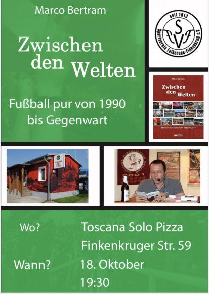 Lesung von Marco Bertram: Fußball pur von 1990 bis Gegenwart