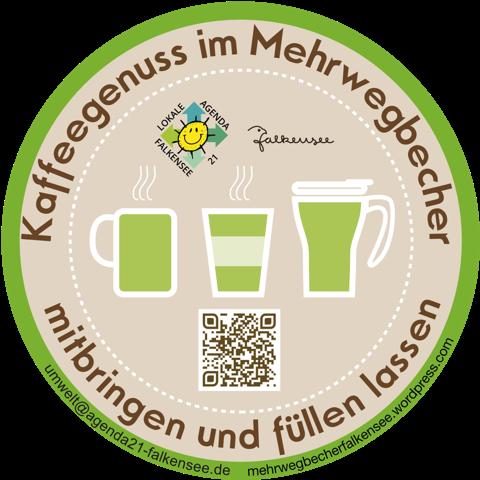 """Die Umweltgruppe der Lokalen Agenda Falkensee hat die Initiative """"Kaffeegenuss im Mehrwegbecher"""" in Falkensee gestartet"""