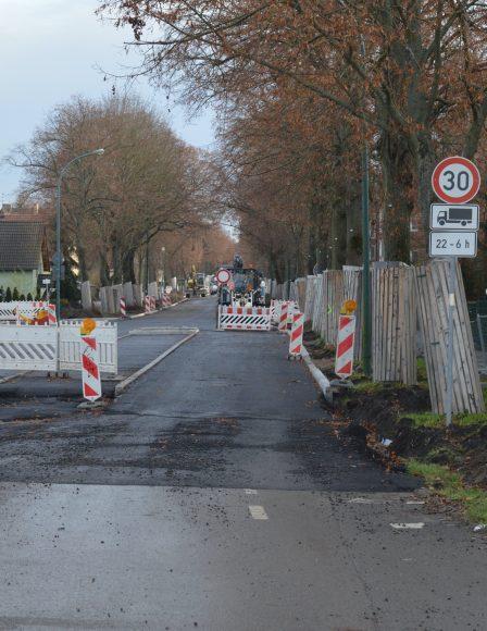 Nauen – Hamburger Straße – Teilabschnitt wird für den Verkehr freigeben
