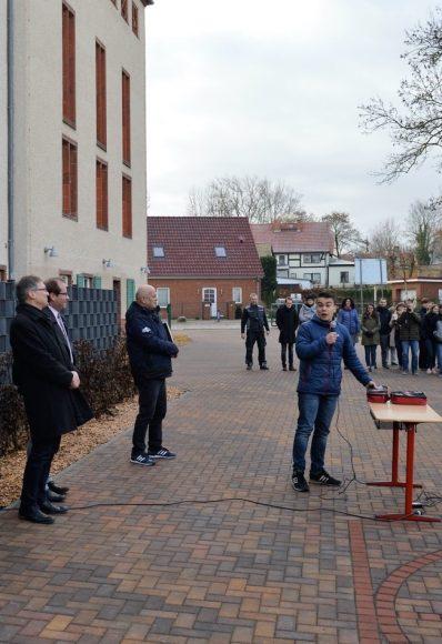 Schulhof des Goethe-Gymnasiums Nauen eingeweiht