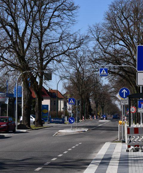Hamburger Straße in Nauen – Asphaltarbeiten stehen an