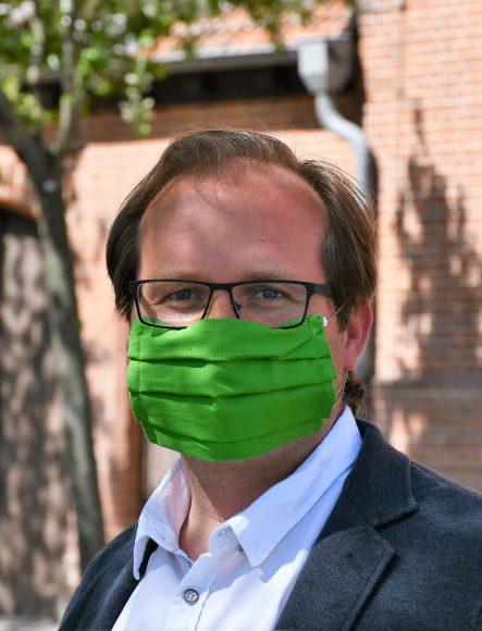 Bürgermeister Manuel Meger appelliert an Bürgerschaft, Mundschutz zu tragen