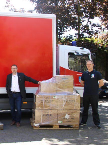 Landkreis Havelland verteilt persönliche Schutzausrüstungen an soziale Einrichtungen