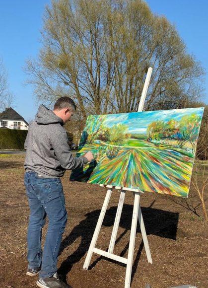 Alexander Dik malt: Falkenseer Künstler unterwegs