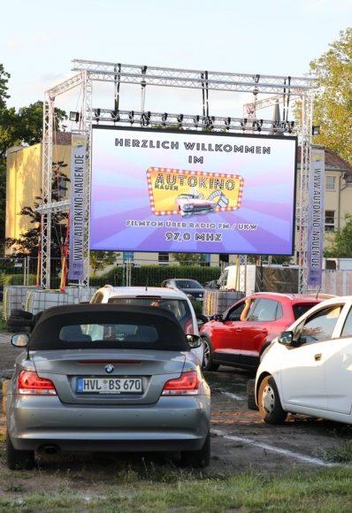 Im Nauener Autokino: Das erste PopUp Autokino im Havelland ging an den Start!