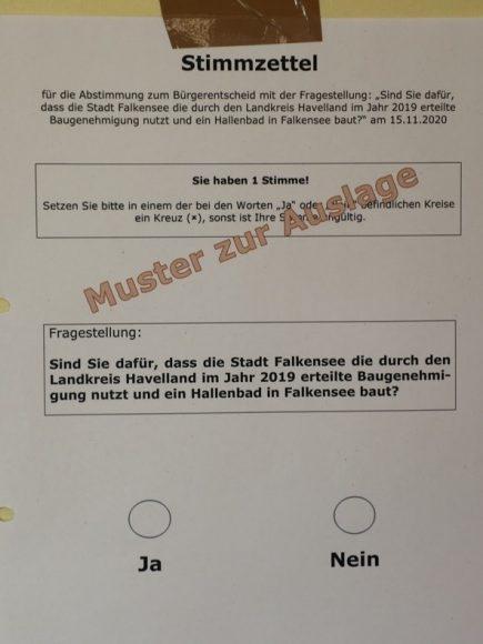 Überraschung: 10.452 Falkenseer stimmen für das Hallenbad-Projekt!