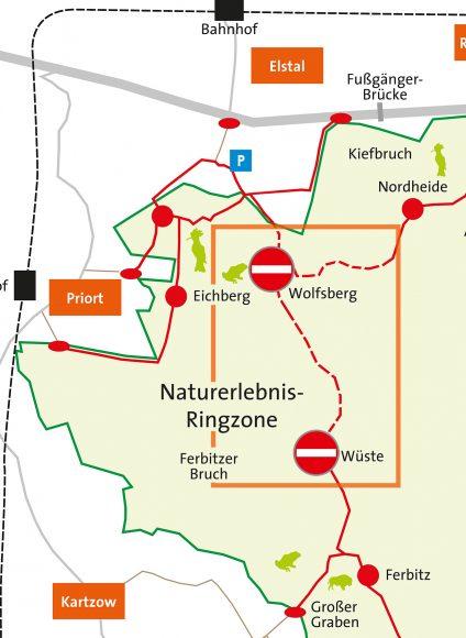 Wegesperrung in Sielmanns Naturlandschaft Döberitzer Heide