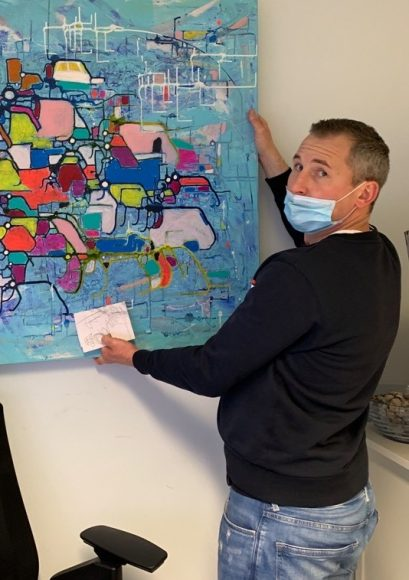 Kunst aus Falkensee: Alexander Dik studiert Malerei und verkauft seine ersten Bilder!