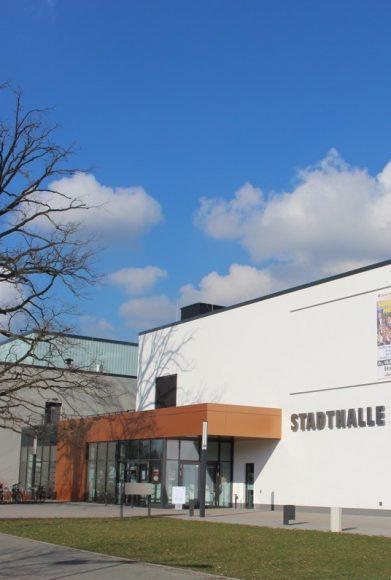Einrichtung eines Impfzentrums in der Stadthalle Falkensee