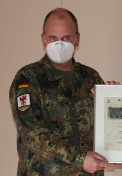 Havelland: Landrat verabschiedet Oberstleutnant Klitscher als Leiter des Kreisverbindungskommandos
