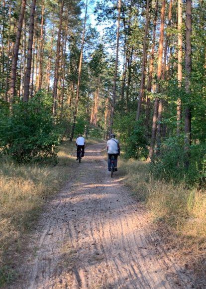 Schüler unterwegs zwischen Schönwalde-Glien und Falkensee: Ein Sandweg quer durch den Wald soll ausgebaut werden!