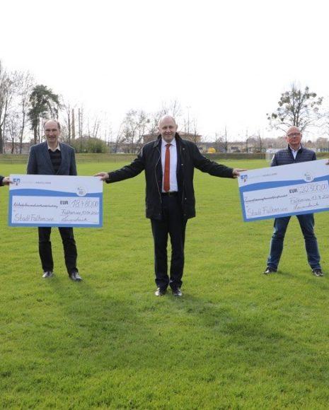 Wasser marsch in Falkensee: Der Sportplatz Ringpromenade erhält eine Beregnungsanlage!