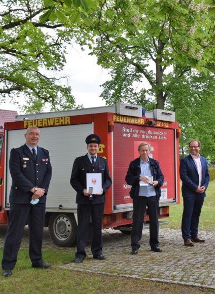 Medaillen für vier Ribbecker Feuerwehrleute