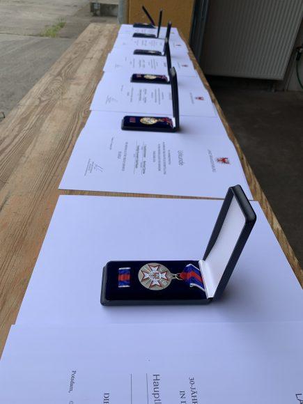 Medaillen für fünf Feuerwehrleute aus Bergerdamm