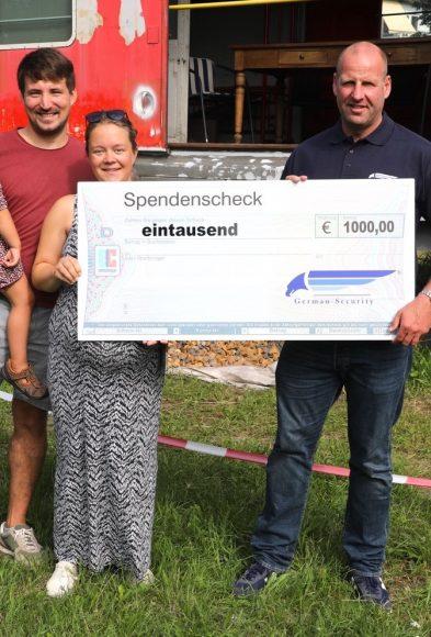 German Security und germanSITEC: 1.000 Euro für das neue Eisenbahncafé  in Wustermark!