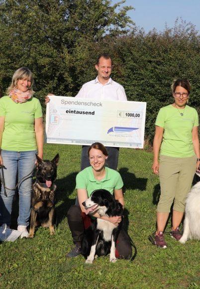 Auf Kommando: Hundesportverein wünschte sich 1.000 Euro für Parcours!